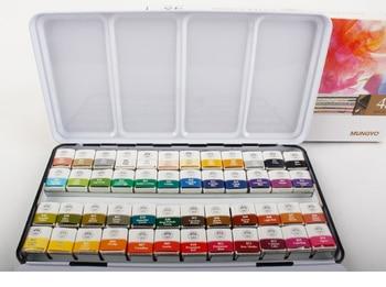 MUNGYO MWPH série 12/24/48 Cores Profissão Aquarela Tintas embalagem da caixa de ferro pigmento sólido Material de Desenho Da Arte
