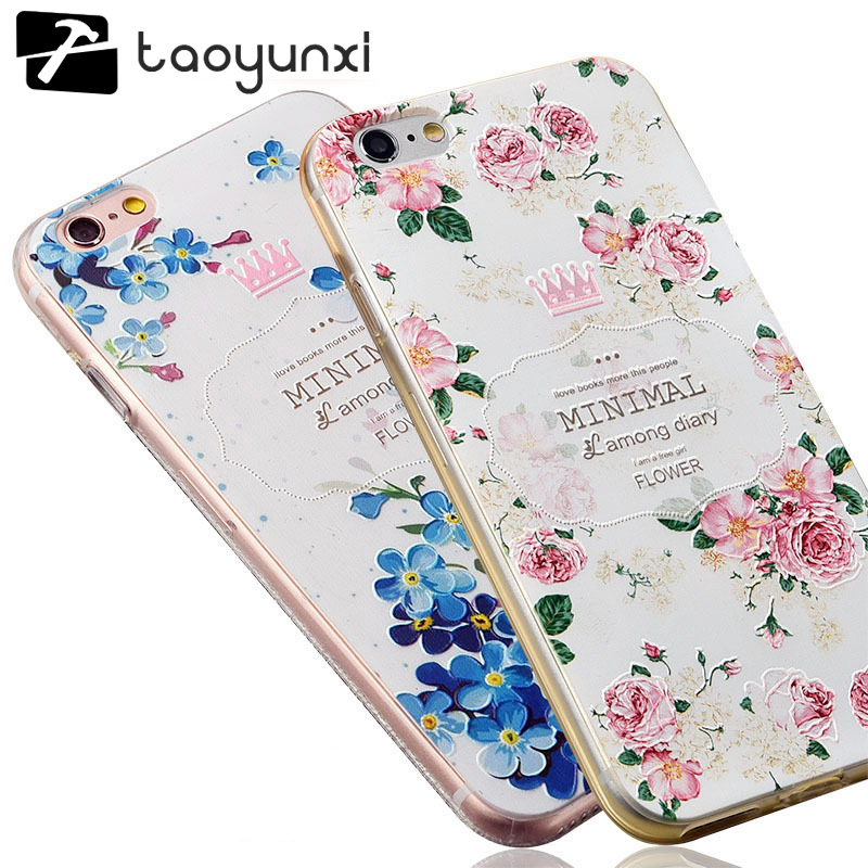 TAOYUNXI 3d Soft Silicone Tpu Back Cover Case For Iphone 7 6 6s Plus 7plus Case With Dust Plug For Iphone 6 6s 7 Phone Cases