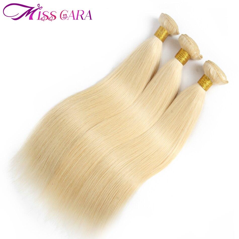 Малайзии Прямые Человеческие волосы 3 Связки #613 светлые волосы расширения 100% Человеческие волосы Weave Связки Miss Cara Волосы Remy