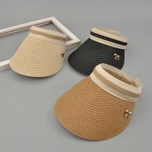Nuevo patrón de verano niños adultos sombreros arco aire Top boater sombrero  Panamá parasol protector solar sombrero de paja chi. d0c963152fe8