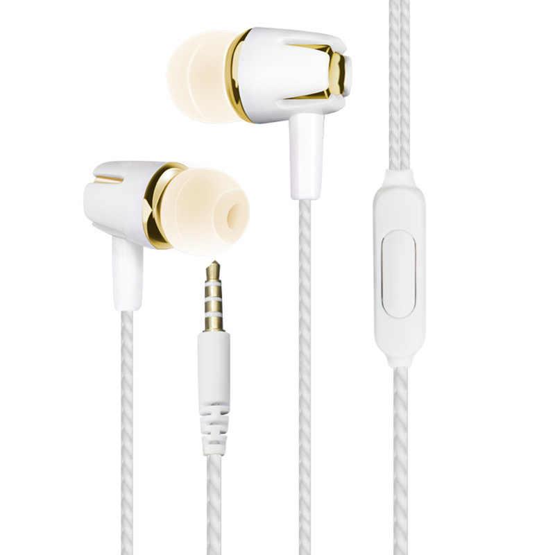 1 قطعة مستقيم إدراج في الأذن سماعات المحمولة خط التحكم مع القمح الرياضة Wweat واقية مضخم الصوت سماعات لسامسونج