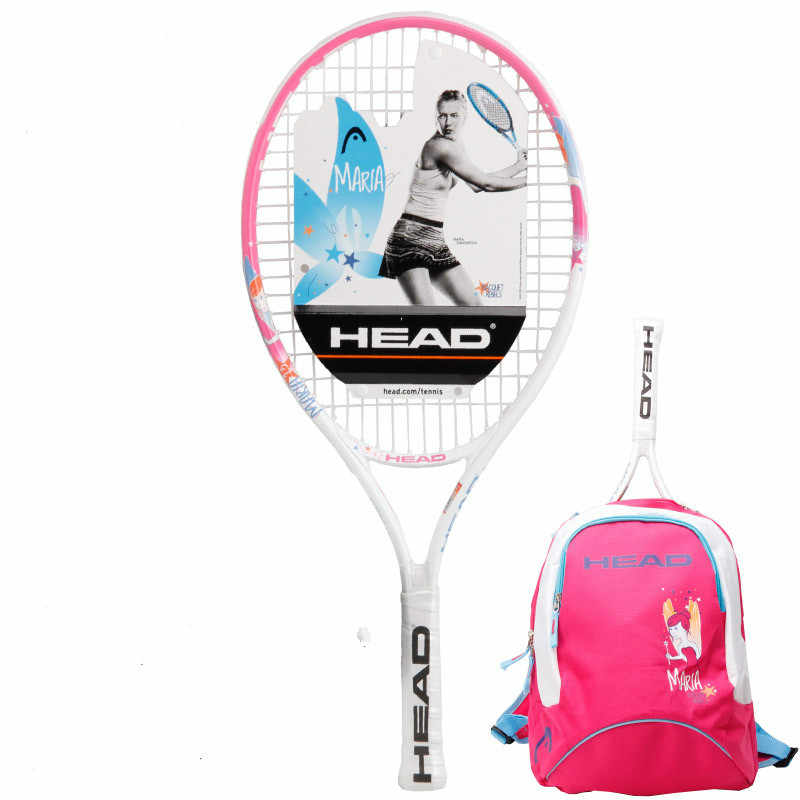 Original Head 21/23/25 Inch Junior Carbon Fiber Tennis Racquet for Kids Youth Childrens Sharapova Training Rackets With bag