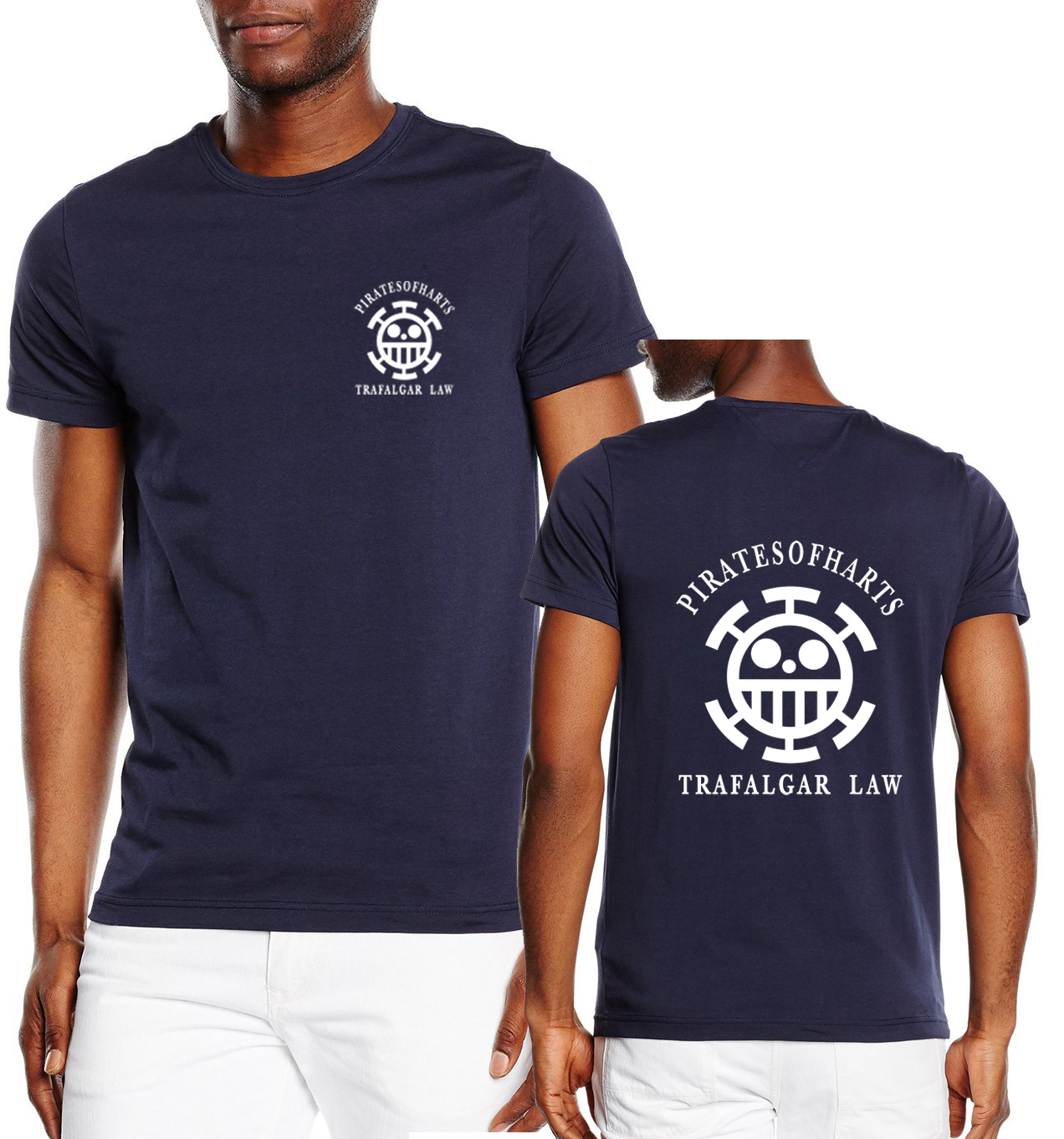Anime One Piece Trafalgar Law Death Surgeon T-Shirt man brand  T Shirt Men 2019 New summer Cotton Casual Tops Tee Short Sleeve