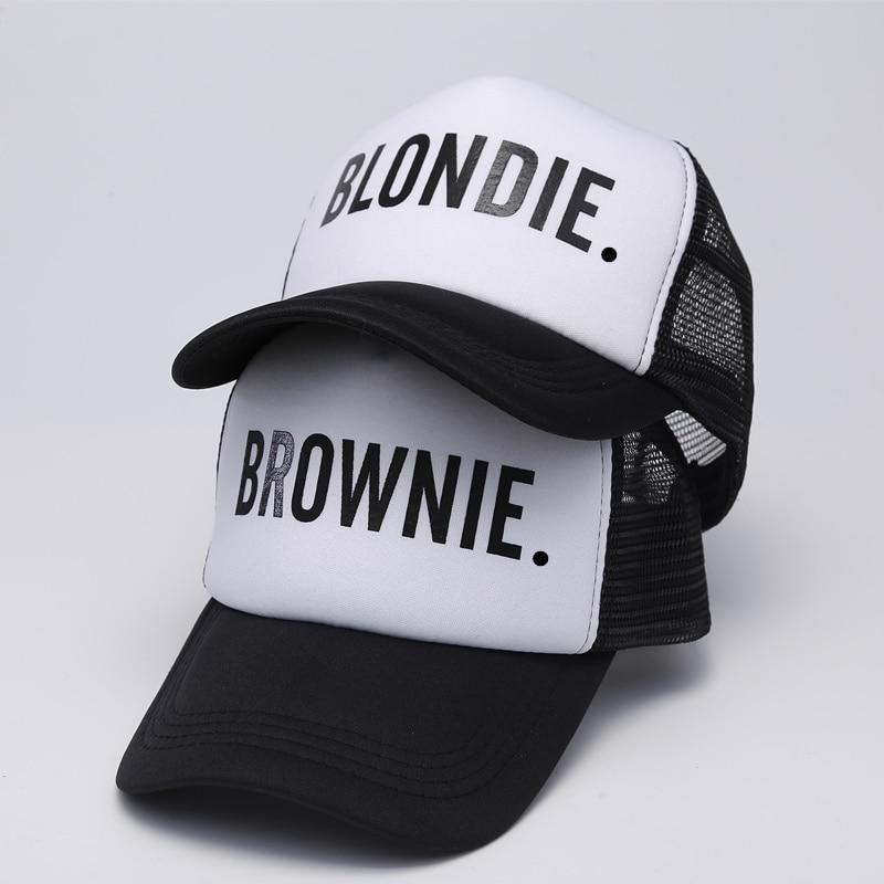 BLONDIE BROWNIE Baseball caps Trucker Mesh cap Women Gift For Girlfriends Her High Quality Caps Bill Hip-Hop Snapback Hat Gorras