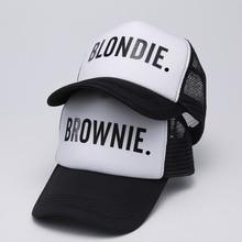 BLONDIE BROWNIE bonés de Beisebol Trucker cap Malha Mulheres Presente Para  Namoradas Sua Conta Hip- d720f32b8a0