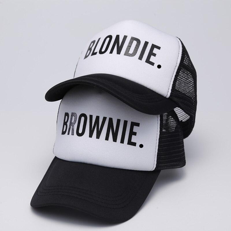 Blondie Brownie Berretti Da Baseball Trucker Mesh Cap Donne Regalo Per Amiche Lei Protezioni Di Alta Qualità Bill Hip-hop Cappello Di Snapback Gorras