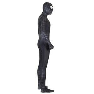 Image 4 - Unisex Kids Spider 3 Black Symbiote 3D Cosplay Costume Zentai Spider Superhero Bodysuit Suit Jumpsuits Halloween