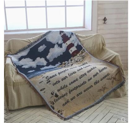 Rétro naturel nuage lettre tapis durable coton fil couverture épaissir durable canapé couverture lit maison textile tapis tapisserie