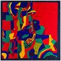 """Nova Venda Quente Mulheres Cachecol Rayon 35 """"90 cm Toalha de Mão Pintura A Óleo Abstrata Vermelha Padrão de Impressão Mulheres Bandana Xale SP16101116"""