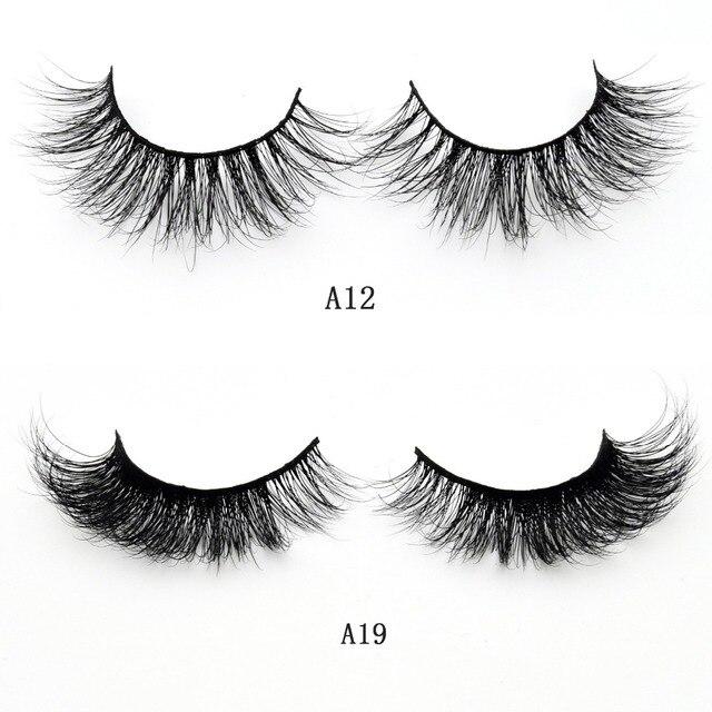 Visofree Mink Lashes 3D Mink False Eyelashes Long Lasting Lashes Natural & Lightweight Mink Eyelashes 1 pair Glitter Packaging 4