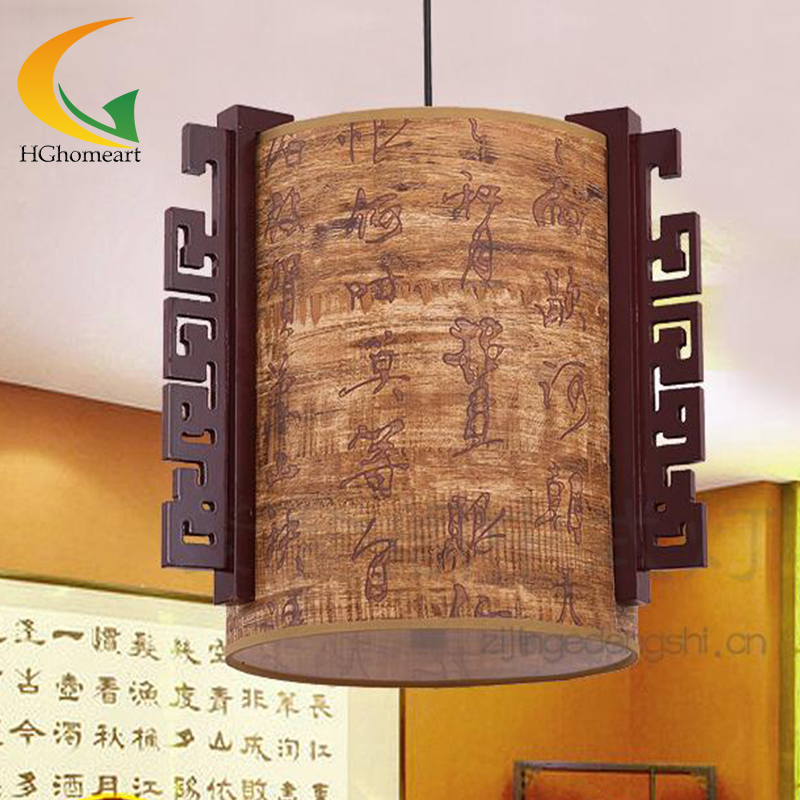 Classical Style Chinese single head Led pendant lights wood wooden pendant lamp creative restaurant antique lighting classical chinese food industry restaurant bar cafe original wood single head pendant lights rmy 0247