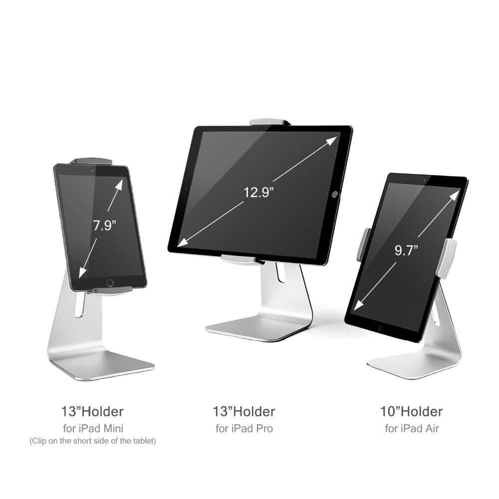 AP-7S アルミ合金 7-13 インチのタブレット pc スタンド 360 回転視野角 180 度調整可能 ipad ミニプロ表面