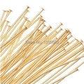 22 К Позолоченный Глава Pins Head Pins Иглы Металлический Штырь Поставок Изготовления Ювелирных Изделий Pin-21 Калибра-2 Дюйм(ов) (200) 4N014