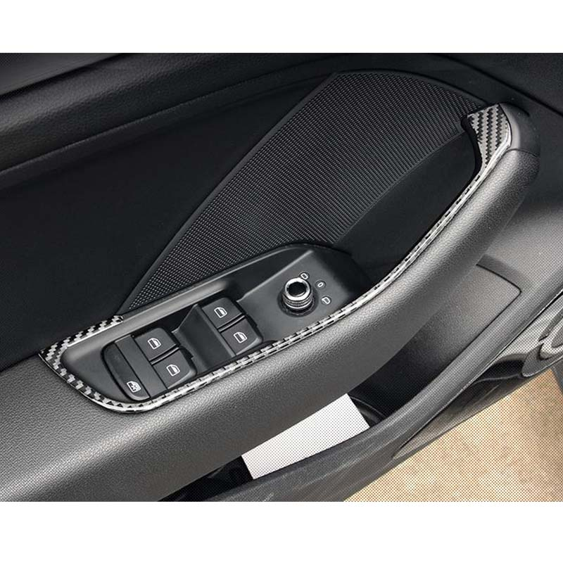 A3 S3 Carbon Fiber Interior Moldings Window Switch Panel Trim Door Panel Cover For Audi A3 S3 2014-2016