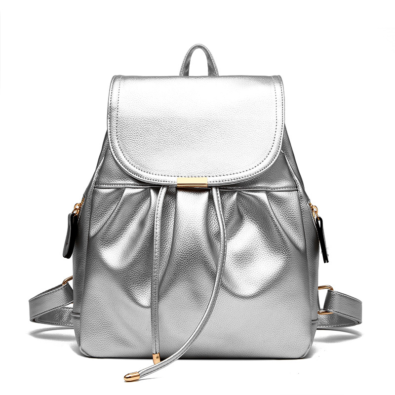 Women PU leather backpack mansur lady leather backpack girl leather school bag free shipping fashion girls bag