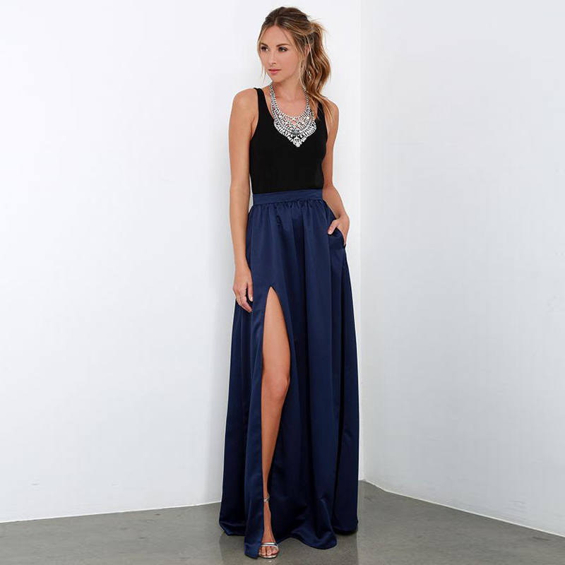Popular Long Navy Blue Skirts-Buy Cheap Long Navy Blue Skirts lots ...