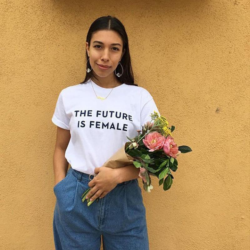 Feminist T Shirt retro Smash The Patriarchy The Future is Female Girl Power Cute