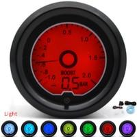 2 52mm BAR Turbo Boost Gauge 7 Color Racing Gauge LCD Digital Display Car Meter Multiple Colors