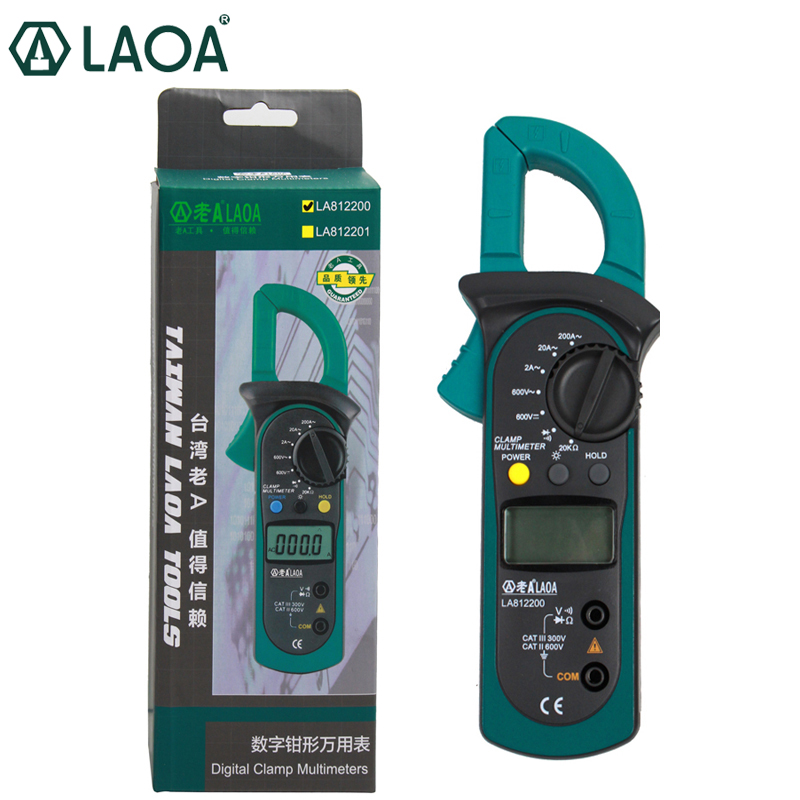 LAOA Electrical Tester Digital Clamp Multimeter  AC/DC Ammeter Voltmeter Potable Multimetro 2years guarantee