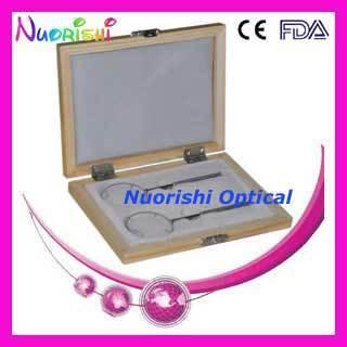 Oftálmica Óptica Lente Cilindro Cruzado Conjunto Kit 2 unids en Un Estuche rígido De Plástico Negro E09-5501 Envío Gratis