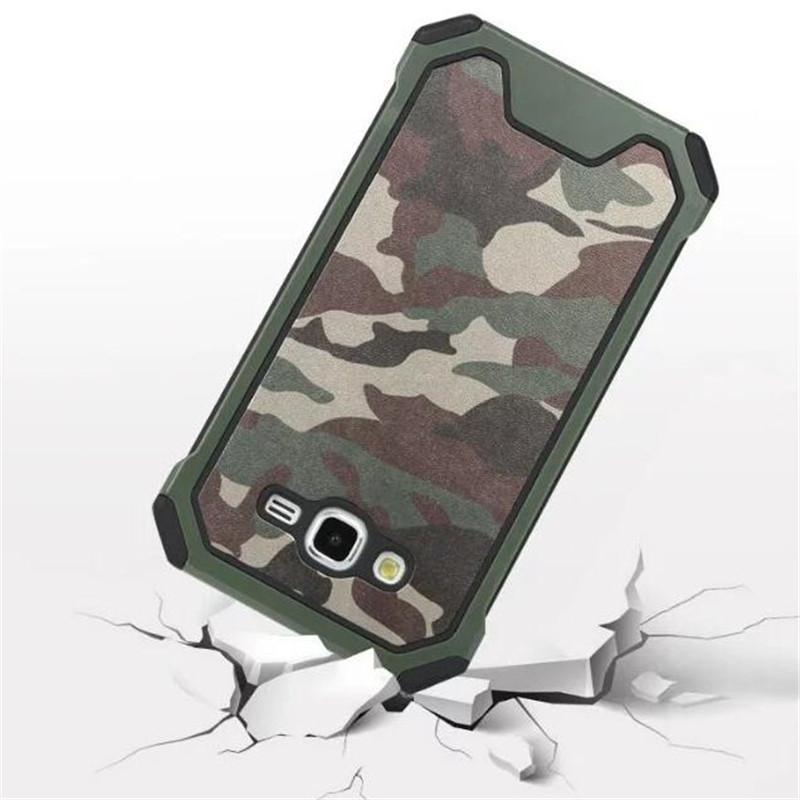 Navy Camouflage Hybrid Armor Shockproof Cover Case For Samsung Galaxy 2016 J3 J310 / J5 J510 / J7 J710 Tough Protective Cases