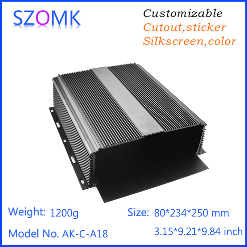 1 piec aluminum material electronics enclosure Custom Processed Electrical Junction Enclosure 80*234*250mm цена