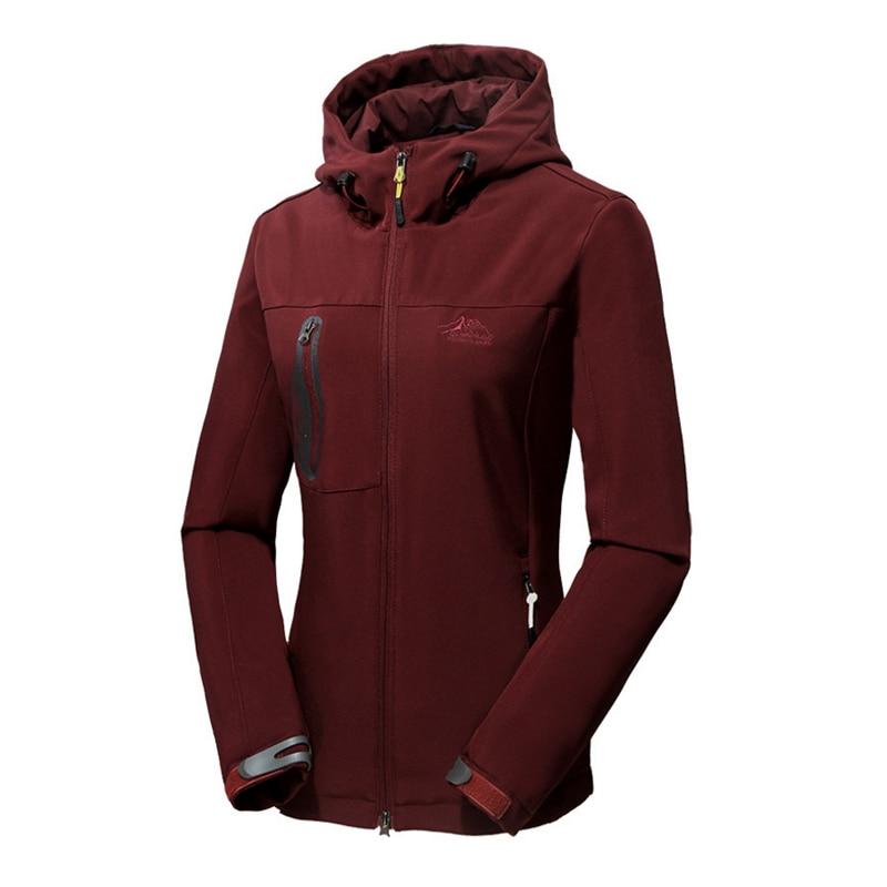 Oversized 5XL Woman Warm Winter Waterproof Softshell Fleece Jackets Women Camping Hunting Hiking Trekking Climb Outdoor Skiing