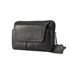 Outdoor Genuine Leather Waist Bag for iphone/Samsung Smart Phone Belt Pouch Purse Waist Bag for Below 6.0inch Mobile Phones Case
