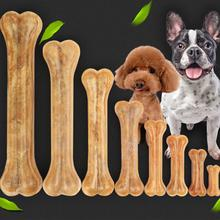 Dog Chews Toys Pet Dog Toy Supplies Leather Cowhide Bone Molar Teeth Clean Stick Food Treats Dogs Bones for Puppy Accessories us pawise stick vocal utterance bone elasticity books molar dog interactive toys