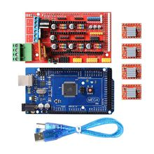 3D Printer Kit Mega 2560 Board + RAMPS 1.4 + 4X A4988 For Arduino RepRap 3d printer reprap sanguinololu ver1 3a control board for replacing ramps