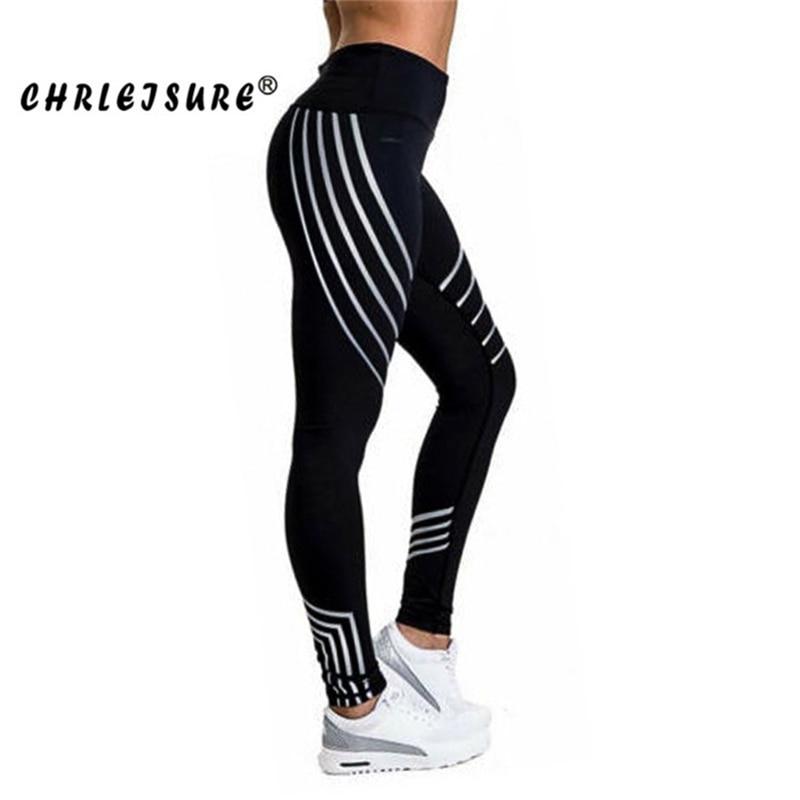CHRLEISURE Leggings Mujer Europa y Estados Unidos costura transpirable Delgado pantalones convencionales cadera poliéster mujer Legging