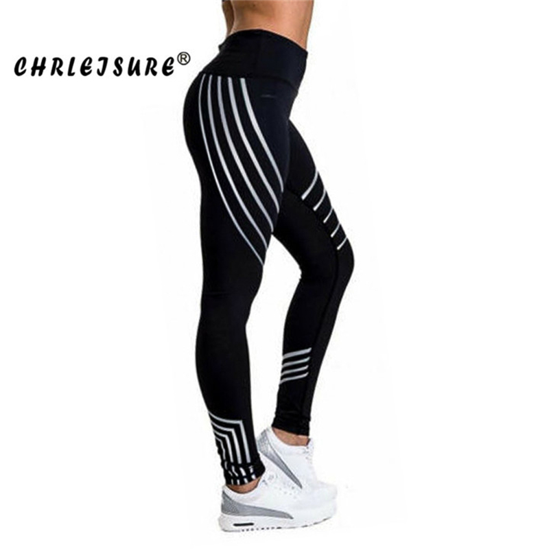 CHRLEISURE Leggings Women Europe and United States stitching breathable slim pants conventional hip polyester Female Legging