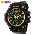 2016 SKMEI Big Dial Digital Sports Watch S SHOCK Men Military Army Watch Water Resistant Date Calendar LED Watches Montre Homme