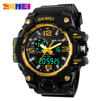 2016 SKMEI Big Dial Digital Sports Watch S SHOCK Men Military Army Watch Water Resistant Date