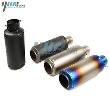 YUANQIAN Laser Kennzeichnung 51 MM/61 MM Motor Auspuffrohr Moto Carbon Faser Schalldämpfer Rohr Für KTM 125 200 390 DUKE 1190 RC8 BMW