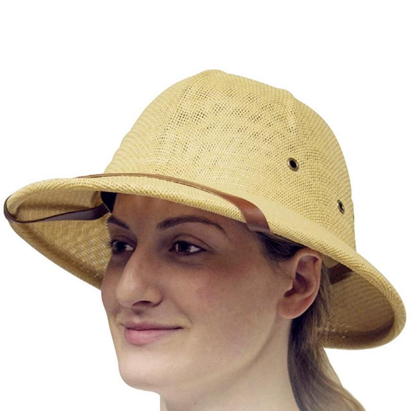 Fashion Vietam War Army Hat Women Men British Explorer Straw Helmet Summer Boater Bucket Sun Hat Unisex Jungle Miners Cap CP0210