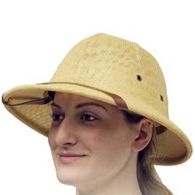 Moda Chapéu Mulheres Homens Do Exército Guerra Britânico Vietam Explorador  Capacete de Verão de Palha Velejador 00d30eb425f