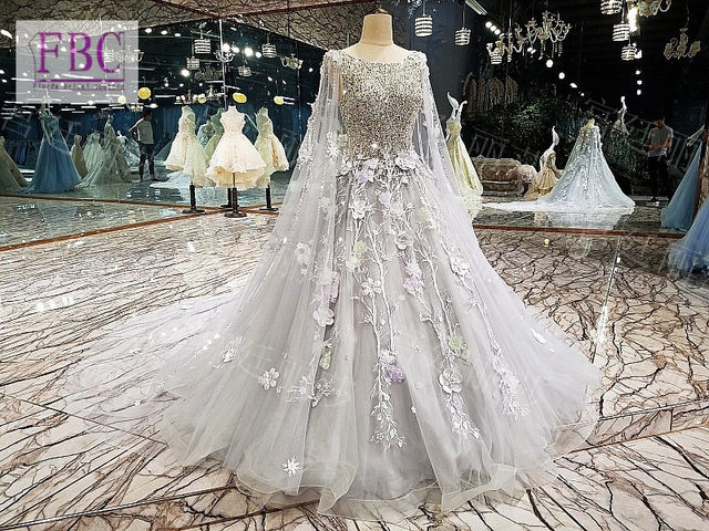 Online Shop Gorgeous Bling Light Grey Wedding Dress Ball GownTulle ...