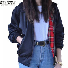 Zanzea Fashion Coats 2016 Autumn Women Casual Outerwear Long Sleeve font b Tartan b font Lined