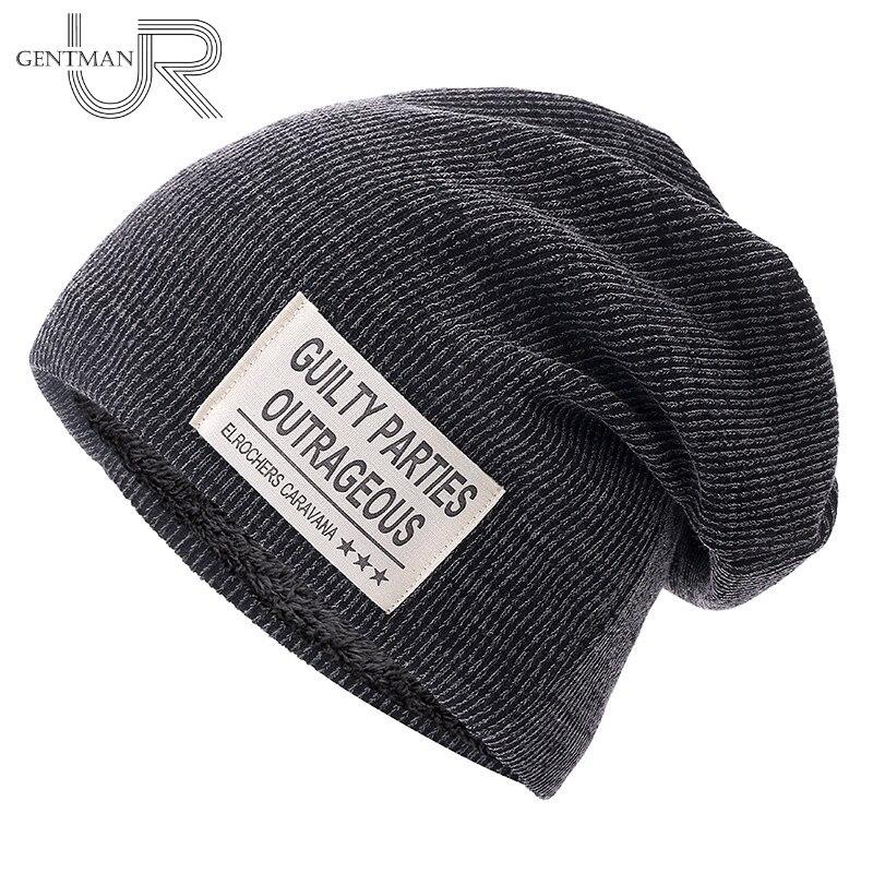 New Unisex Beanie Hat Letter Cloth Mark Hat Plus Velvet Winter Hat For Men Women Fashion Warm Brand Beanie Ski Sports Winter Cap