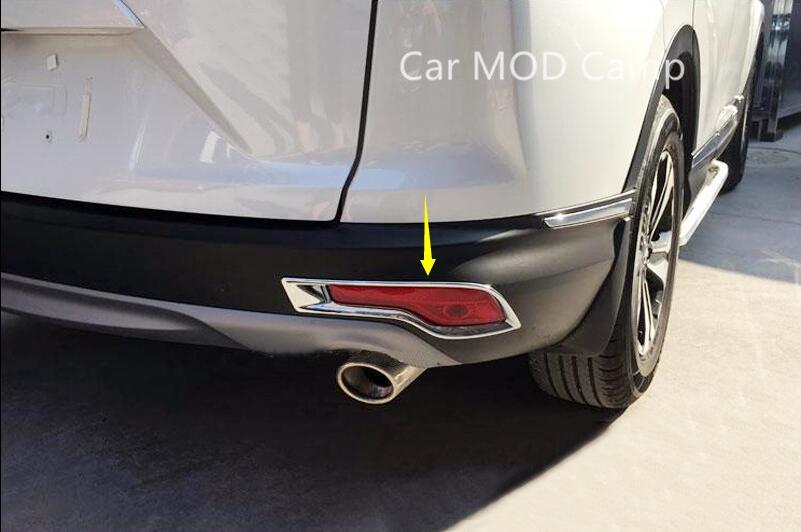For Honda CRV CR V 2017 2018 ABS Chrome Rear Fog Light Fog Lamp Cover Trim