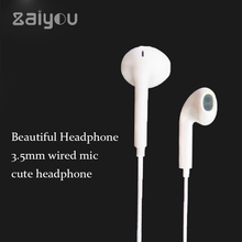 Cheap 3.5mm Fones De Ouvido estéreo de áudio jack cabo de fone de Ouvido Estéreo Música Para O Telefone Móvel Universal Wired In Ear Fone de Ouvido com MIC