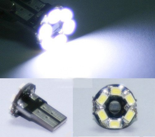 T10 464 55 Bright 6SMD 1206 6SMD LED Wedge 194 T10 168 t10 led light white  Free Shipping
