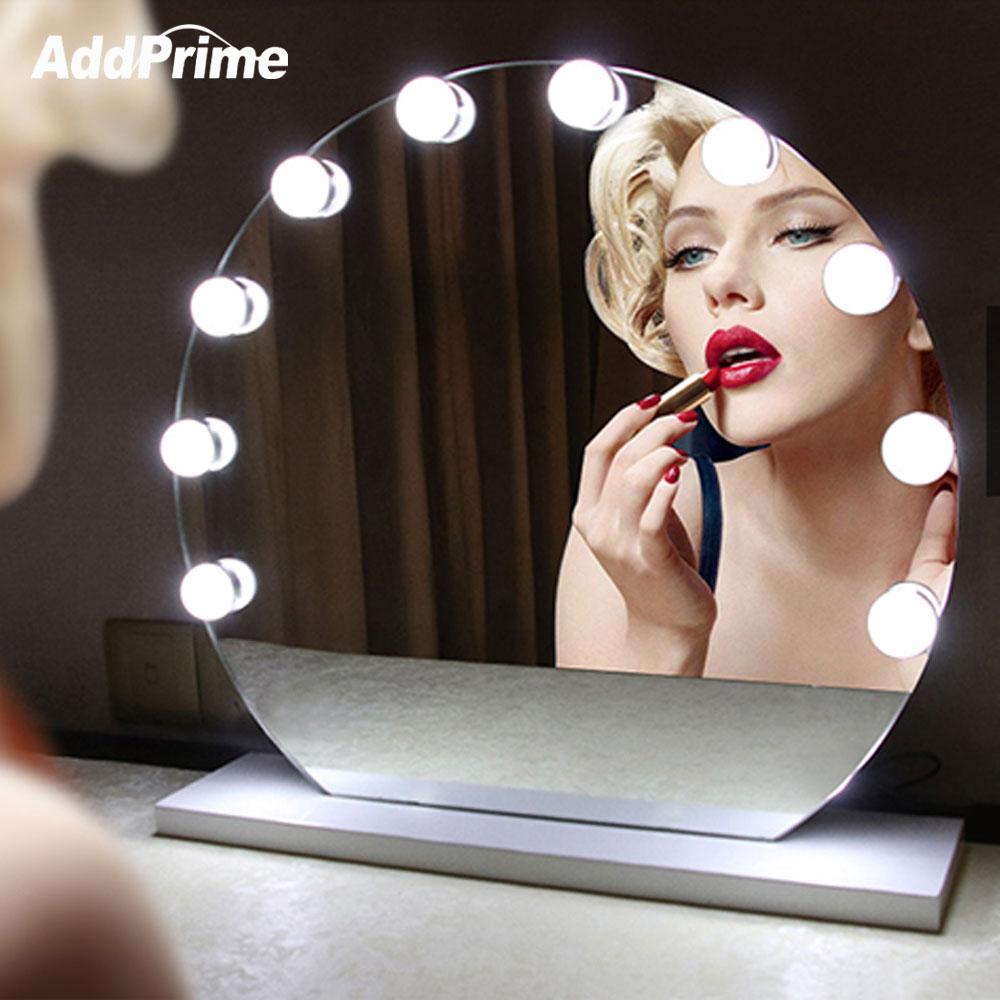 Затемнения косметическое зеркало свет светодиодный макияж настольные лампы туалетный столик лампы Комплект Голливуд Стиль USB Свет Строка …