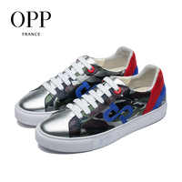 OPP Men's Shoes Fashion Wild Casual Shoes Leather Men's Belt Youth Camouflage Hip Hop Shoes Trend Board Shoes