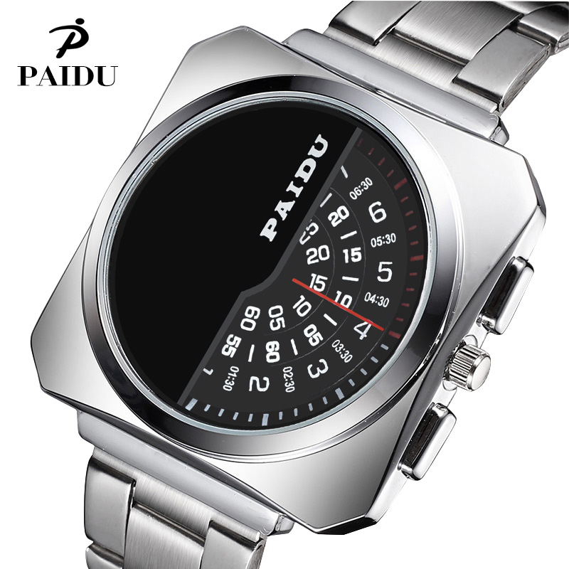 PAIDU Watch Men Watch Full Steel Turntable Watches Fashion Luxury Wrist watches Male Clock relogio masculino reloj hombre