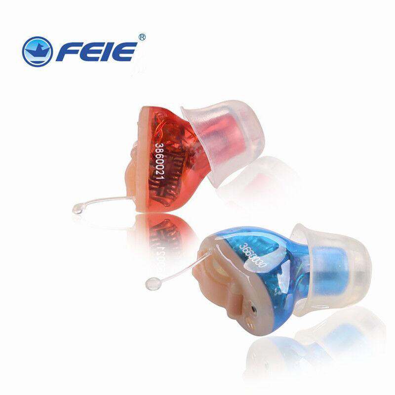 2 Pieces Mini Ear Hearing Aid Digital Invisible Sound Amplifier CIC S-10A In The Canal Device Open Fit Auidphone feie high quality cic digital hearing aid s 15a ear amplifier for the hearing loss