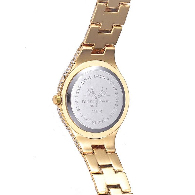 Miss Fox Oostenrijk Crystal dameshorloges luxe dames gouden horloge - Dameshorloges - Foto 3