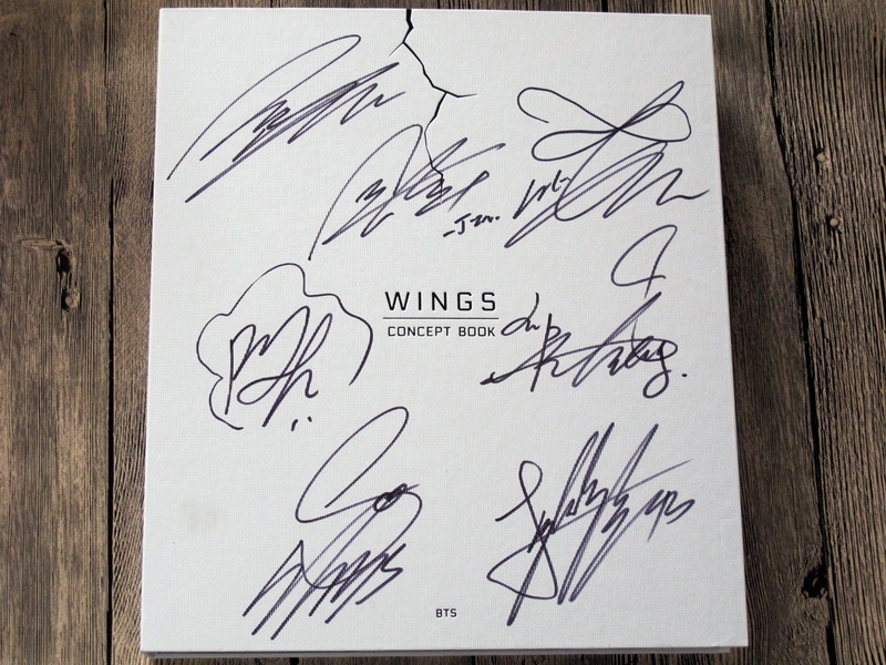 US $199 99 |Signed Bangtan Boys Autographed 2017 WINGS CONCEPT BOOK  official limited korean ver K pop 082017-in Cards & Invitations from Home &  Garden