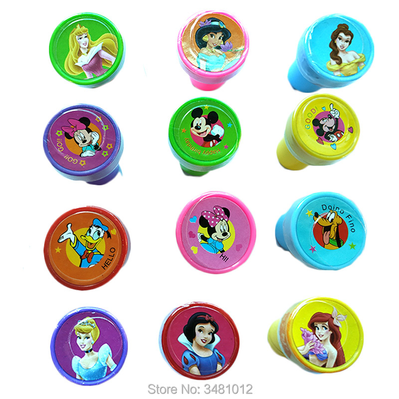 6pcs Kids Rubber Self Inking Stamps Craft Cartoon Princess Painting For Scrapbooking Children Custom Art Tool Drawing Toys Set
